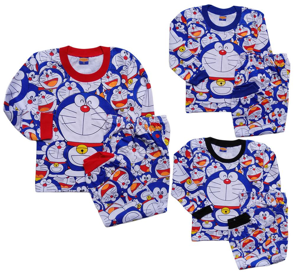 Setelan Panjang Baju Tidur Atasan Piyama Doraemon DRPHB042318