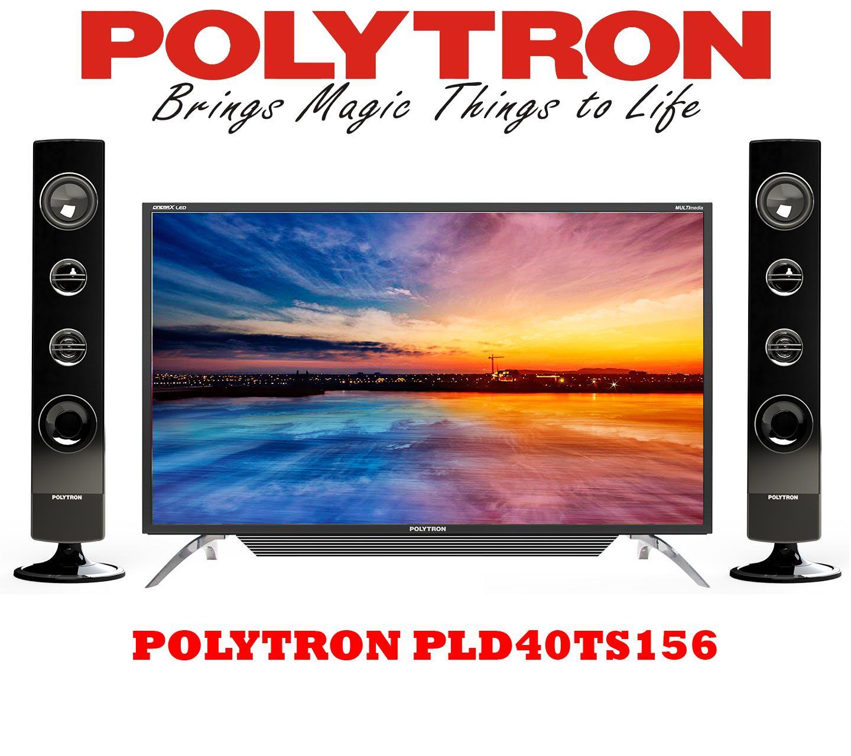 Polytron LED TV 40 – 40TS156 – Hitam Free Packing Kayu