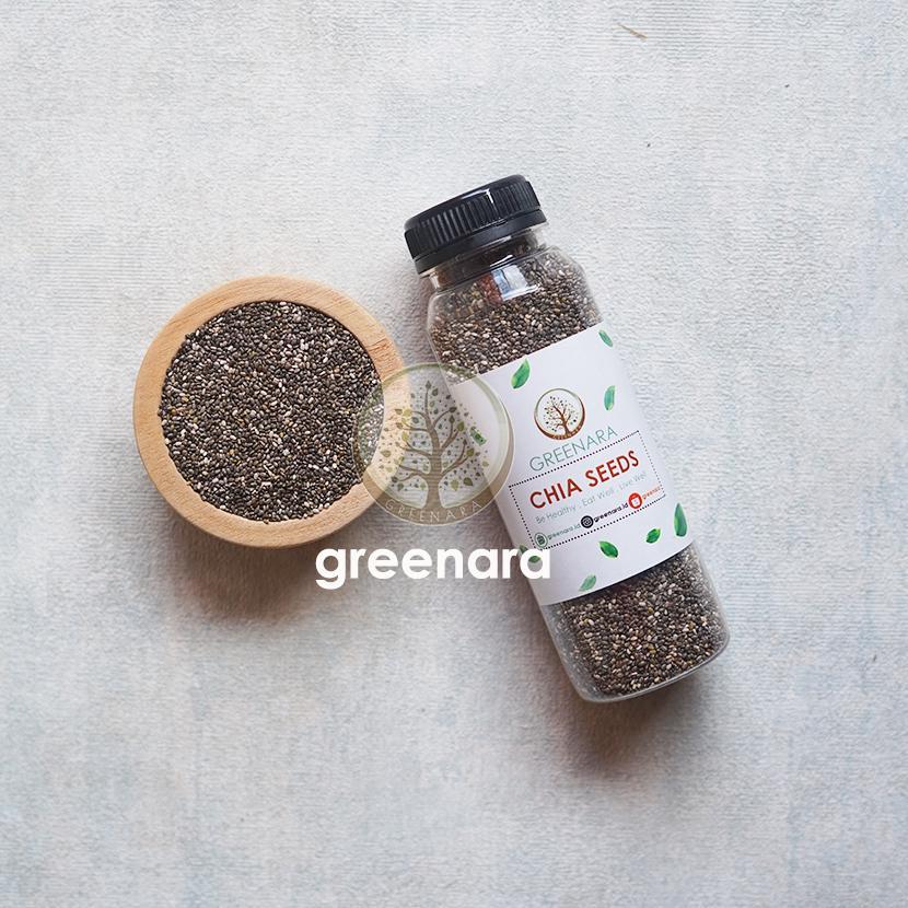 Chia Seed Organic 75 Gr Buy 1 Get 1 Free (dikemas Langsung 150 Gr) By Greenara.