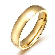Review Tentang 4Mm Emas Berlapis Halus Cincin Anillos Untuk Pria Dan Wanita
