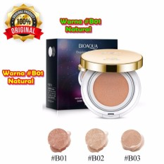 [01] Natural - Bioaqua Exquisite and Delicate BB Cream Air Cushion Pack Gold Case SPF 50++ Foundation Make Up Wajah