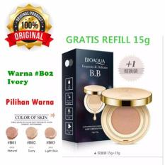 Harga 02 Ivory Bioaqua Exquisite And Delicate Bb Cream Air Cushion Pack Gold Case Spf 50 Foundation Make Up Wajah Free Refill Di West Sumatra