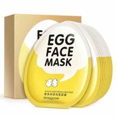 1 BOX Masker Wajah Bioaqua Masker Pemutih Wajah Egg Face Mask Sheet Mask 10 lembar