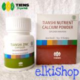 Jual 1 Box Nutrient Calcium Powder 1 Botol Zinc Peninggi Badan Original Alami Organik 10 Hari Elkishoptiens Free Membership Baru