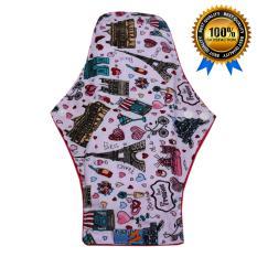 1 Pcs Jumbo 35cm Menstrual Pad / Pembalut Kain Cuci Ulang Jumbo Motif Prancis