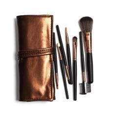 Diskon 1 Set 7 Pcs Makeup Brush Dengan Tas Makeup Kosmetik Alat Kecantikan Kuas Kecantikan Kopi Intl