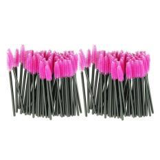 Jual 100 Pcs Lot Kuas Make Up Di Merah Muda Sintetis Serat Was The Off Sekali Pakai Idep Sikat Maskara Aplikator Wand Sikat Baru