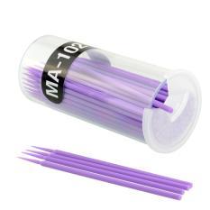 100 Pcs Ungu Bulu Mata Sekali Pakai Maskara Swab Sikat Mikro Makeup Tools-Intl
