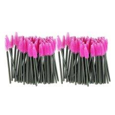 Harga Termurah 100 Pcs Lot Make Up Brush Pink Serat Sintetis Bulu Mata Sekali Pakai Sikat Maskara Aplikator Wand Sikat Intl