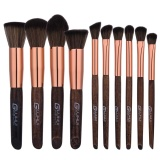 Cuci Gudang 10 Pcs Blending Pensil Foundation Eye Shadow Makeup Brushes Kuas Eyeliner Intl