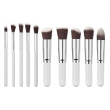 Review Tentang 10 Pcs Pro Kosmetik Makeup Brush Set Putih Silver Intl