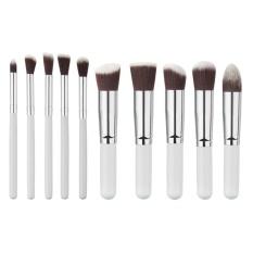 Iklan 10 Pcs Pro Kosmetik Makeup Brush Set Putih Silver Intl