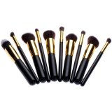 Jual 10 Pcs Profesional Alat Makeup Kosmetik Bedak Eyeshadow Blush Brushes Set Antik