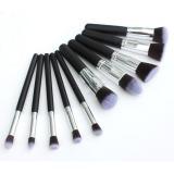 Jual Beli 10 Buah Alat Makeup Kosmetik Profesional Set Kuas Blush On Bubuk Perona Mata Internasional Baru Tiongkok