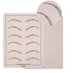 10 Pcs/set Latihan Permanen Makeup Microblading Alis Pelatihan Silikon Kulit Palsu-Intl