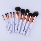 Spesifikasi 10 Pcs Set Profesional Makeup Brushes Marmer Handle Comestic Brushes Yg Baik
