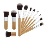 Toko 11 Pcs Wood Handle Makeup Alas Bedak Kosmetik Concealer Brush Set Online