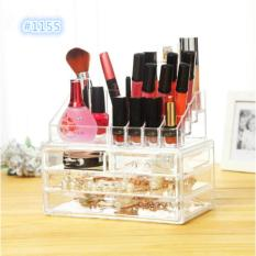 Jual Cepat 1155 Desktop Storage Clear Acrylic Rak Kosmetik Display Rak