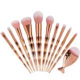 Cuci Gudang Kuas Makeup 11 Pcs Untuk Berbagai Fungsi Warna Pink