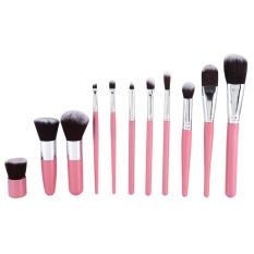 Review 11 Pcs Professional Brush Set Kontur Concealer Makeup Kit Pink Silver Intl Oem Di Indonesia