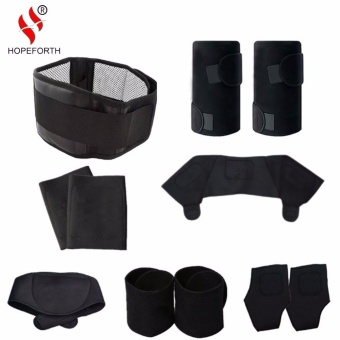 Top 10 11 Pcs Set Tourmaline Self Heating Belt Magnetic Terapi Leher Bahu Postur Pengoreksi Dukungan Lutut Brace Massager Produk Intl Online