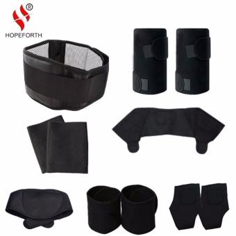 Promo 11 Pcs Set Tourmaline Self Heating Belt Magnetic Terapi Leher Bahu Postur Pengoreksi Dukungan Lutut Brace Massager Produk Intl Murah