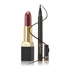 12 Warna Lipstik Lipstik Tahan Air Tipis Indeks Cepat Kering Eyeliner Pen Set-Intl