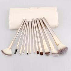 Spesifikasi 12 Pcs Cosmetics Set Best Makeup Brushes Kabuki Brush Cheap Make Up Foundation Brush Eyeshadow Eye Natural Makeup Face Brush Intl
