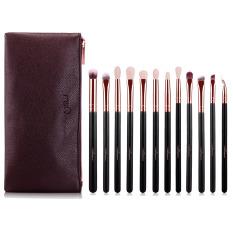 12 Pcs Makeup Kosmetik Eye Brush Set Kit Eye Shadow Blender Eye Liner Hidung Kuas Alis