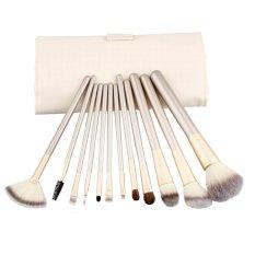 12 Pcs LB Makeup Brushes Set Powder Foundation Eyeliner Bibir Kosmetik