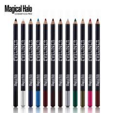 12 Pcs/lot Make Up Kecantikan Pen Eyeliner Eye Liner Pensil Alis Bagus Kosmetik Mata Makeup Stick Asli Kualitasnya Bagus -Intl