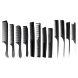 Spesifikasi 12 Pcs Fashion Baru Hitam Sisir Hairdressing Barber Stylist Tools Set Intl Murah Berkualitas