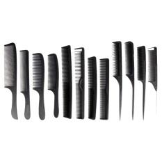 Jual 12 Pcs Fashion Baru Hitam Sisir Hairdressing Barber Stylist Tools Set Intl Oem Murah