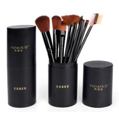 Jual Beli 12Pcs Pro Kosmetik Makeup Brush Set Make Up Alat 1 Silinder Hitam Tiongkok