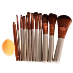 Spesifikasi 12 Buah Alas Bedak Make Up Pro Set Kuas Kosmetik Spons Kepulan Dan Harga