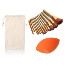Beli 12 Pcs Pro Makeup Set Powder Foundation Kosmetik Brushes Sponge Puff Intl Online Tiongkok