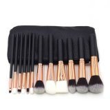 Spek 12 Pcs Rose Gold Wood Handle Makeup Brush Set Brushes Powder Brush Blusher Brush Eye Shadow Kuas Bibir Peralatan Makeup Kecantikan Profesional Intl