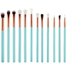 Promo 12 Pcs Set Makeup Brushes Kuas Kosmetik Untuk Eye Shadow Alis Blusher Concealer Bibir Dengan Pensil Internasional Oem