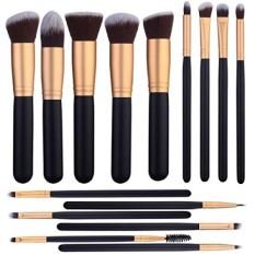 15 Pcs Makeup Brushes Set Kabuki Foundation Contour Blending Blush Concealer Wajah Eye Shadow Brush Lengkap Sintetis Kosmetik B- INTL