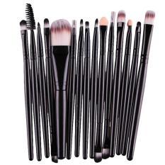 15 Pcs/sets Eye Shadow Foundation Alis Kuas Bibir Makeup Brushes Alat Hitam-Intl