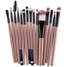 15 Pcs/sets Eye Shadow Foundation Alis Bibir Makeup Brushes Tool Emas-Intl