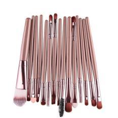15 Pcs/sets Eye Shadow Foundation Alis Kuas Bibir Makeup Alat Sikat Emas-Intl