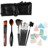 Jual 17 Buah Kuas Kosmetik Make Up Make Sikat Gigi Sikat Foundation Bedak Set Kit With Pu Bagasi Kantong Hitam Antik