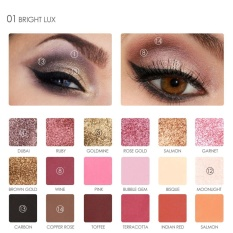 18 Colors Box Shimmer Eye Shadow Palette Pearlized Color Eye Makeup Beauty Cosmetic 1 Intl Oem Diskon 50