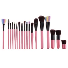 Review Terbaik 18Pcs Professional Cosmetic Makeup Brushes Set Pink Intl