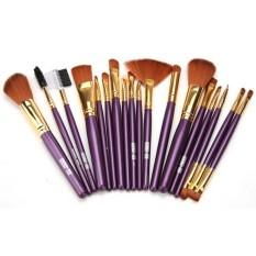 19 Pcs Brushes Set Powder Foundation Pewarna Bibir Kuas Bibir Kit