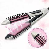 2 In 1 Keramik Curl Shine Hair Iron Straightener Brush Us Plug Oem Diskon 30