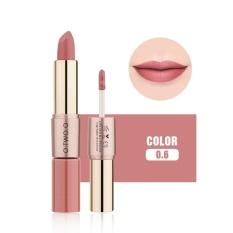 2 In 1 Matte Lipstik Lipgloss Panjang Tahan Lama Pelembab Bibir Balm Makeup Kosmetik (#6)-Intl