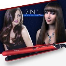 2 Listrik Pemangkas Pelurus Rambut Setrika Pengeriting Rambut Hair Styling Tools Dengan Led Display Aehs236Rq Intl Unbranded Diskon