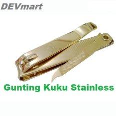 2 Pcs - Gunting Kuku 777 Besar Stainless Steel Pedicure Manicure best Quality Anti Karat - Big Size Silver 2 Pcs